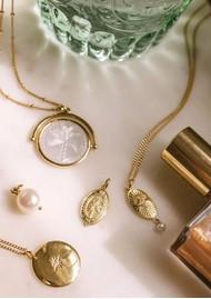 KIRSTIN ASH Bespoke Palm Coin Charm - Silver
