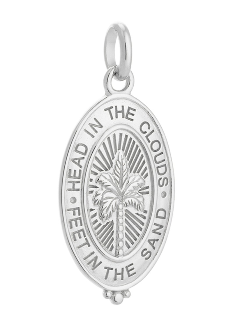 KIRSTIN ASH Bespoke Palm Coin Charm - Silver main image