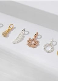 KIRSTIN ASH Bespoke Crystal Moon Charm - Silver