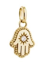 KIRSTIN ASH Bespoke Hamsa Hand Crystal Charm - Gold