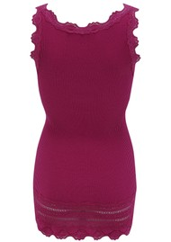Rosemunde Wide Lace Silk Blend Vest - Dark Berry