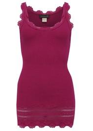 Rosemunde Wide Lace Silk Blend Vest - Dark Berry