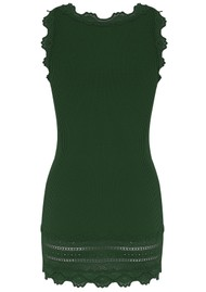 Rosemunde Wide Lace Silk Blend Vest - Black Green