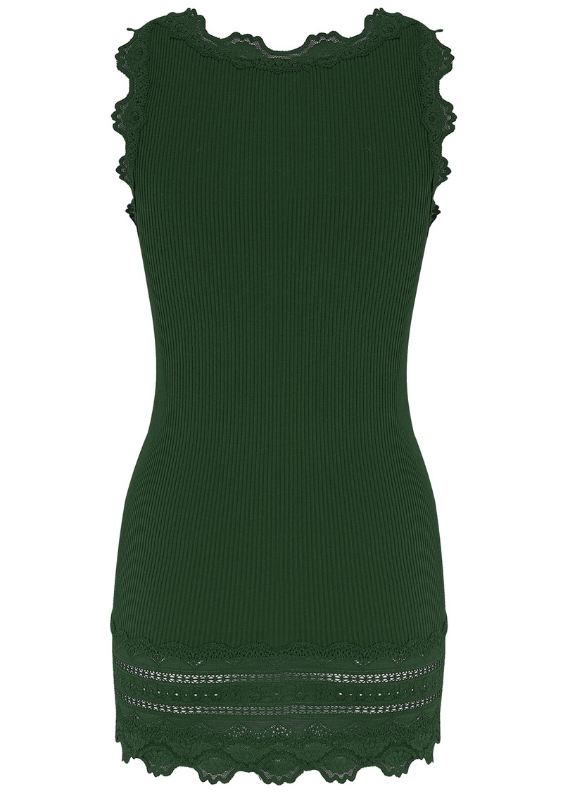 Rosemunde Wide Lace Silk Blend Vest - Black Green main image