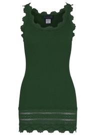 Rosemunde Wide Lace Silk Blend Vest - Black Green