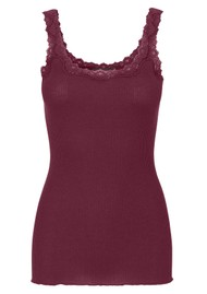 Rosemunde 5357 Lace Tank - Soft Wine