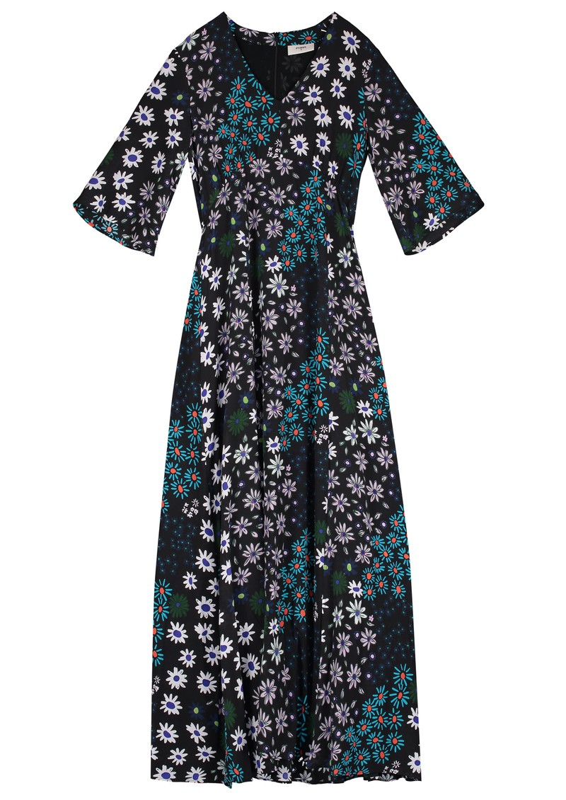 Beatrice Silk Maxi Dress - Crazy Daisy main image
