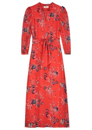 Pyrus Maggie Dress - Buzzy Floral Red