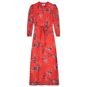 Maggie Dress - Buzzy Floral Red