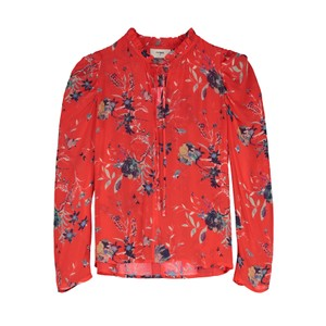 Penelope Blouse - Buzzy Floral Red