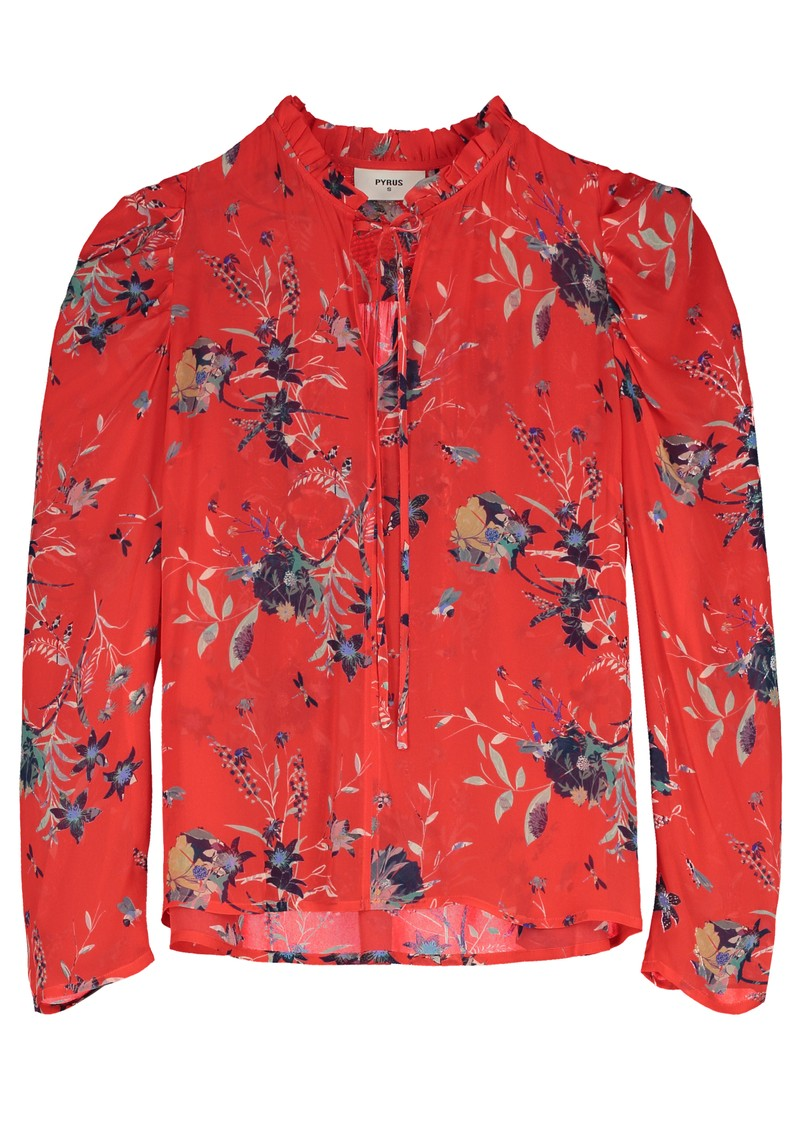 Pyrus Penelope Blouse - Buzzy Floral Red main image