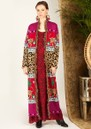 HAYLEY MENZIES Leopardess Duster Cardigan - Magenta & Red