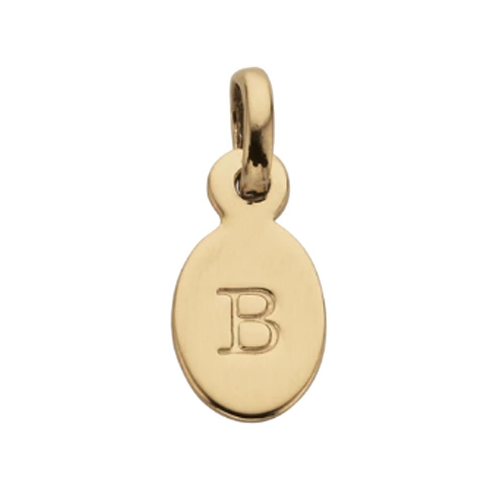 Bespoke Alphabet 'B' Charm - Gold