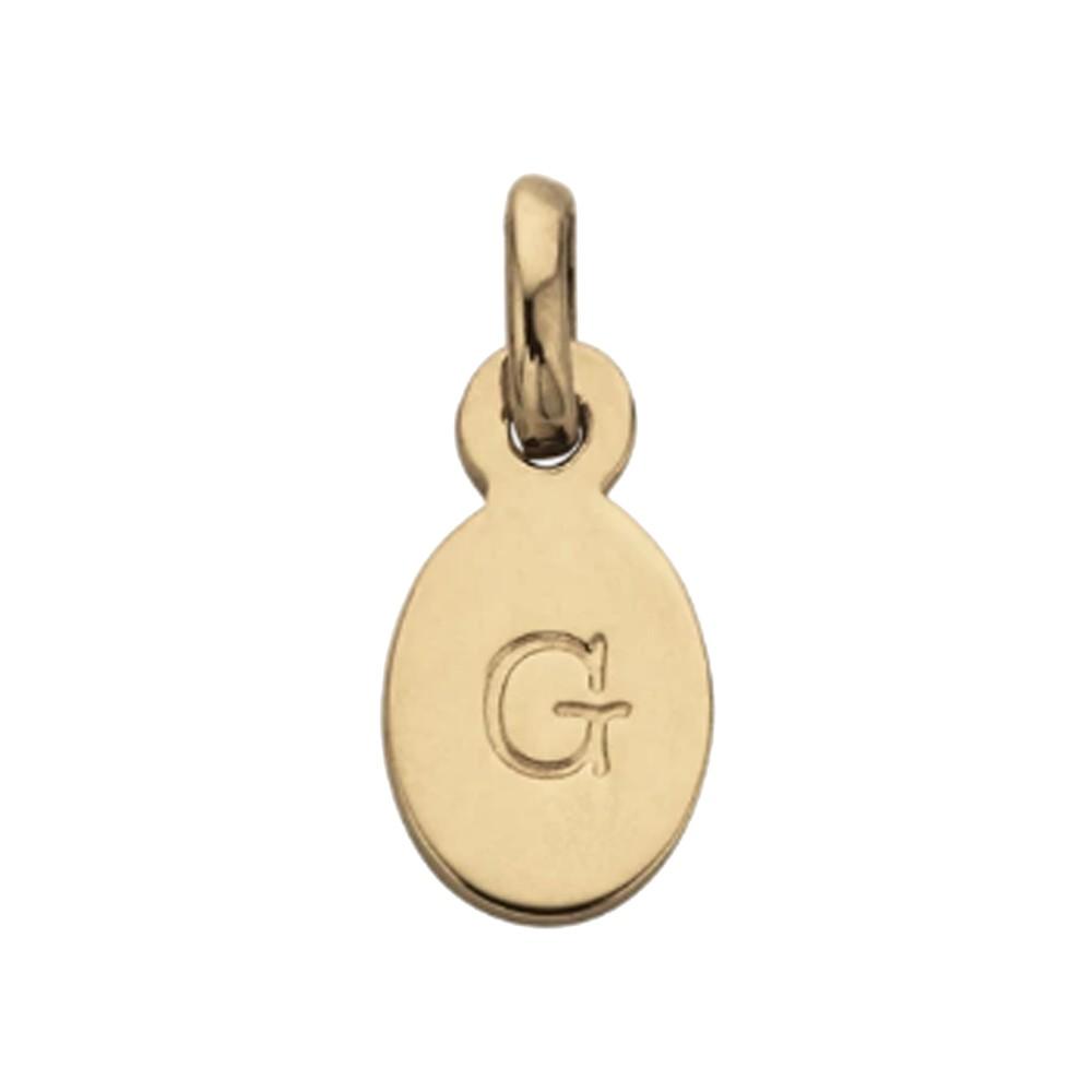 Bespoke Alphabet 'G' Charm - Gold