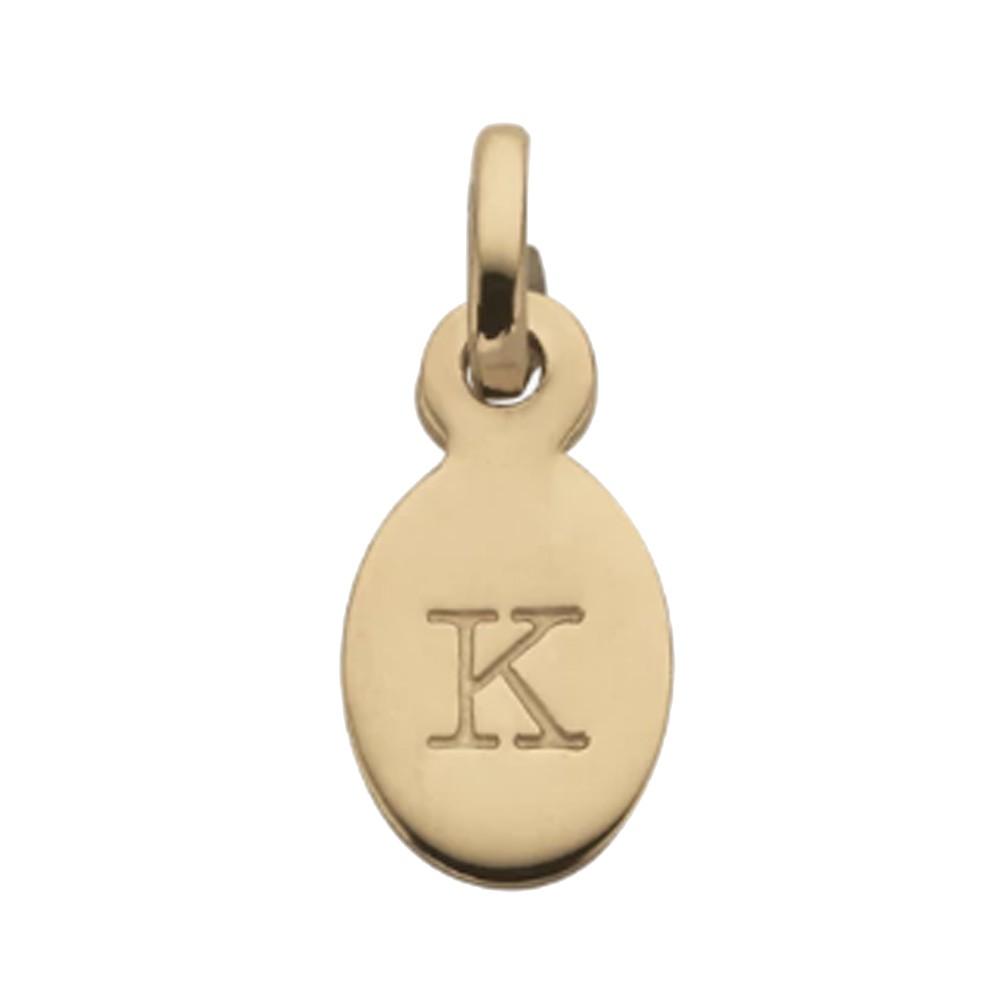 Bespoke Alphabet 'K' Charm - Gold