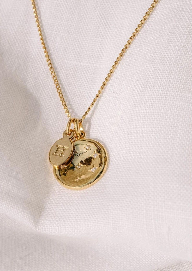 KIRSTIN ASH Bespoke Alphabet 'M' Charm - Gold main image