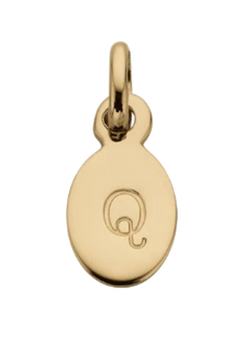 KIRSTIN ASH Bespoke Alphabet 'Q' Charm - Gold main image