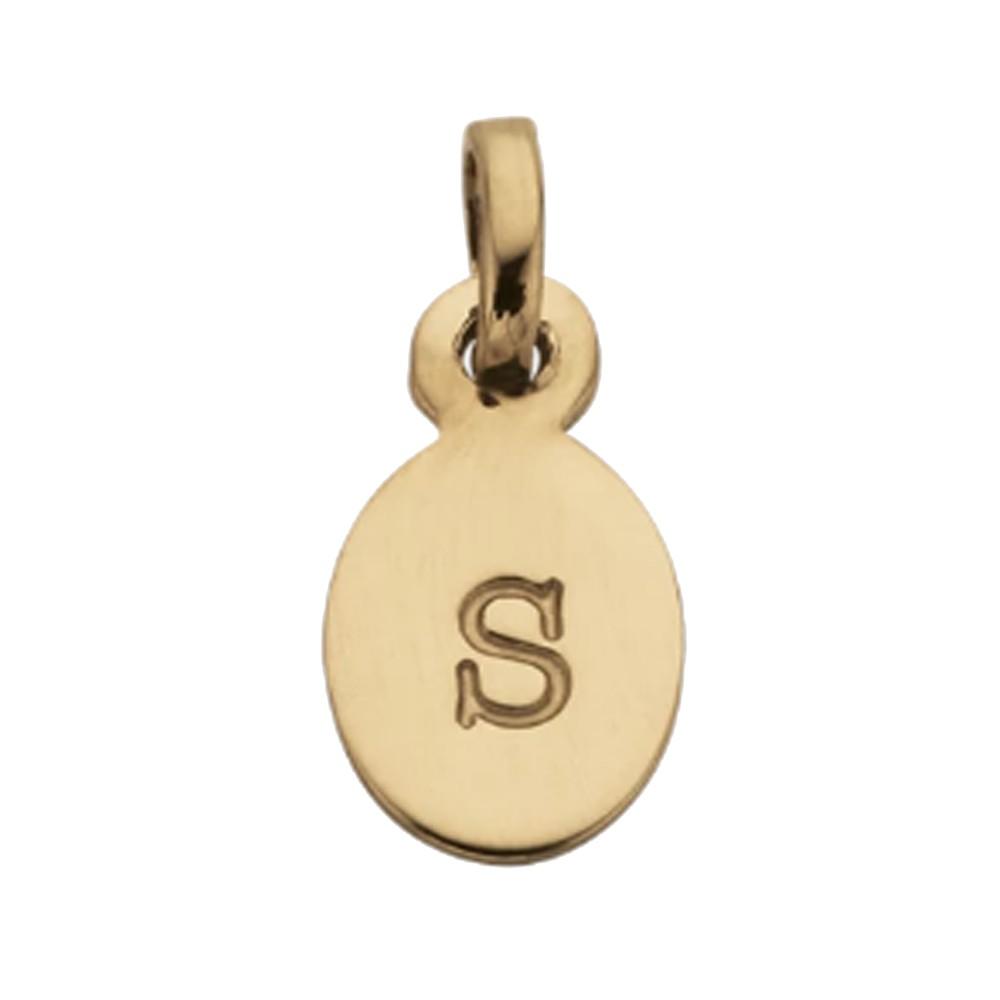 Bespoke Alphabet 'S' Charm - Gold