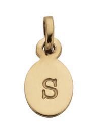 KIRSTIN ASH Bespoke Alphabet 'S' Charm - Gold