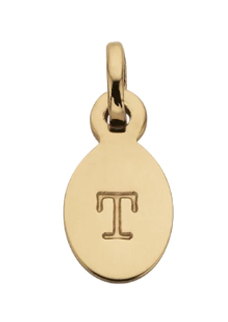 KIRSTIN ASH Bespoke Alphabet 'T' Charm - Gold main image