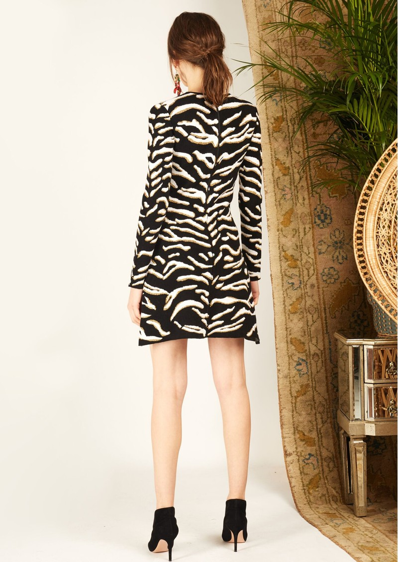 HAYLEY MENZIES Jacquard Knit Mini Dress - Tiger 54 Black main image