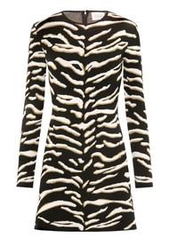 HAYLEY MENZIES Jacquard Knit Mini Dress - Tiger 54 Black