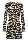 HAYLEY MENZIES Jacquard Knit Mini Dress - Tiger 54 Black