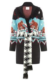 HAYLEY MENZIES Short Knit Cardigan - Tigress Black & White