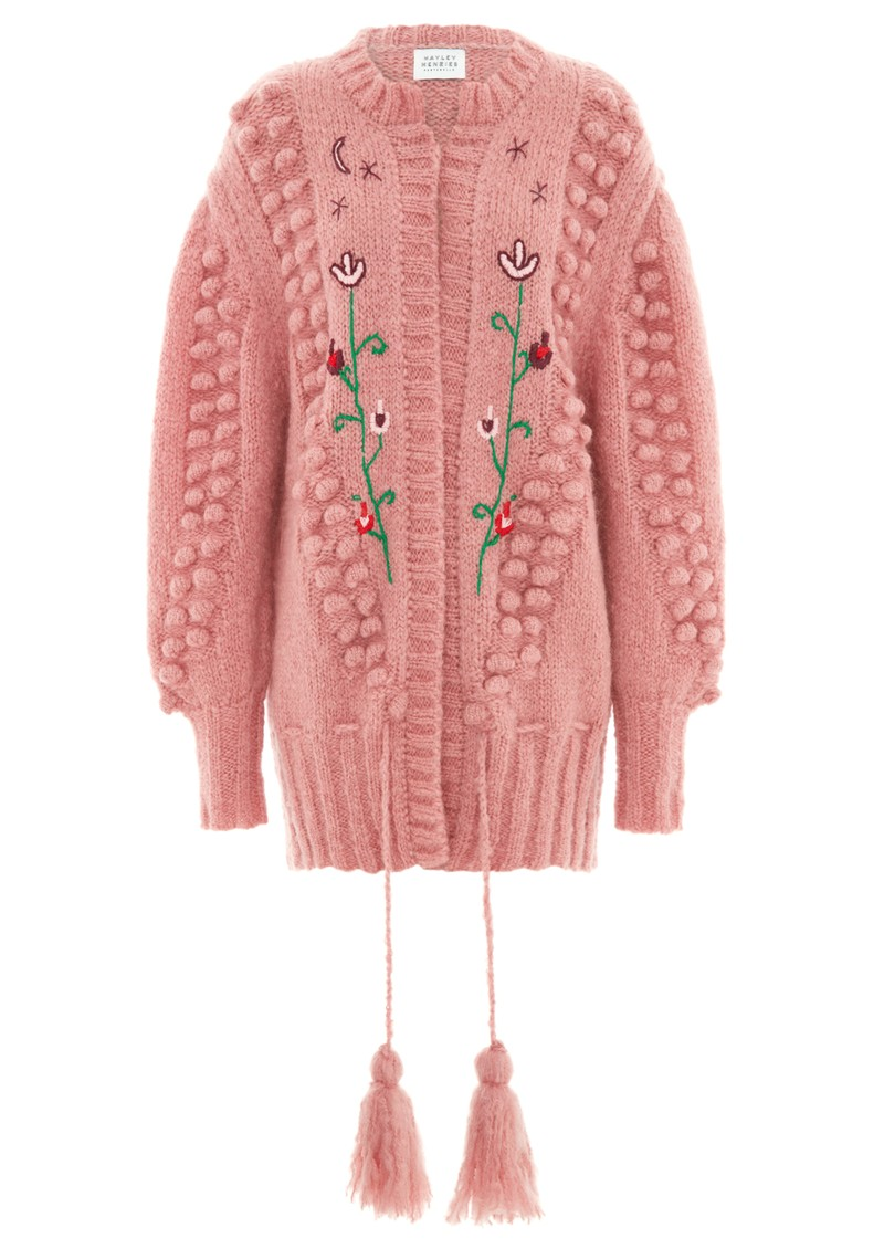 HAYLEY MENZIES Midi Embroidered Cardigan - Gloria Rose main image