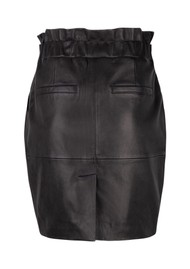 DANTE 6 Abbey Leather Skirt - Raven