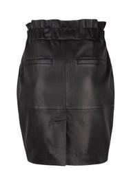 DANTE 6 Abbey Leather Skirt - Raven