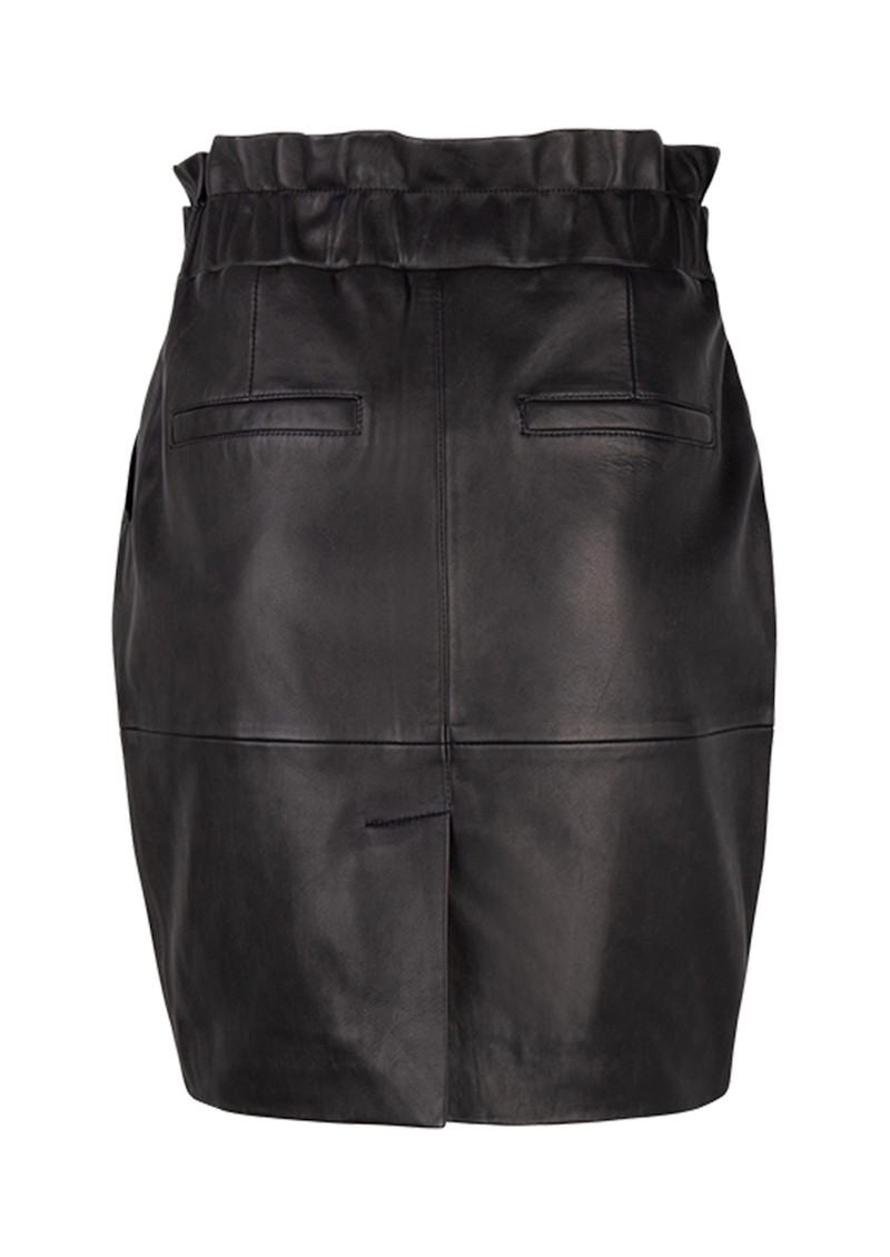 DANTE 6 Abbey Leather Skirt - Raven main image