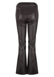 DANTE 6 Tyson Leather Crop Flare Trousers - Raven