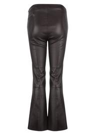 DANTE 6 Tyson Leather Crop Flare Trousers - Raven