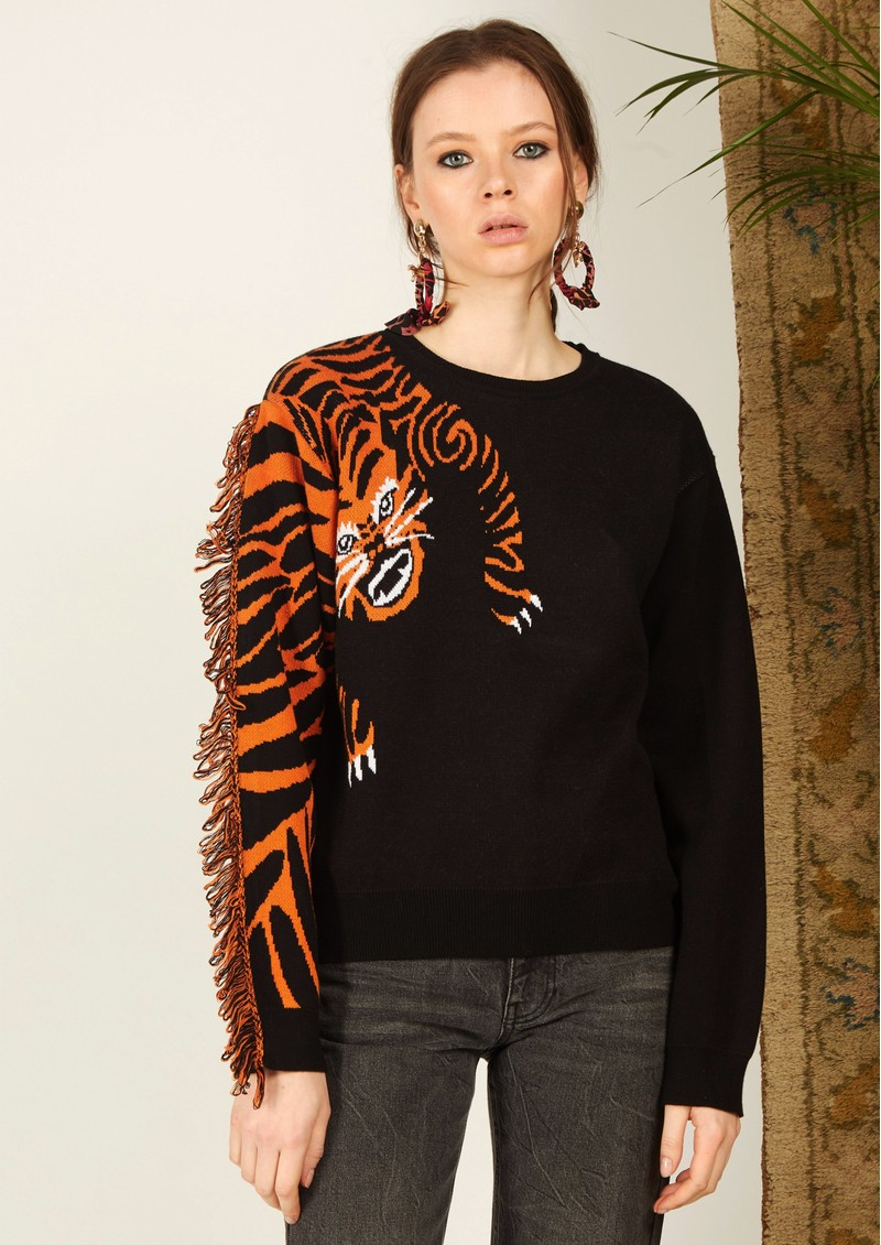 HAYLEY MENZIES Tiger Head Jumper - Black main image