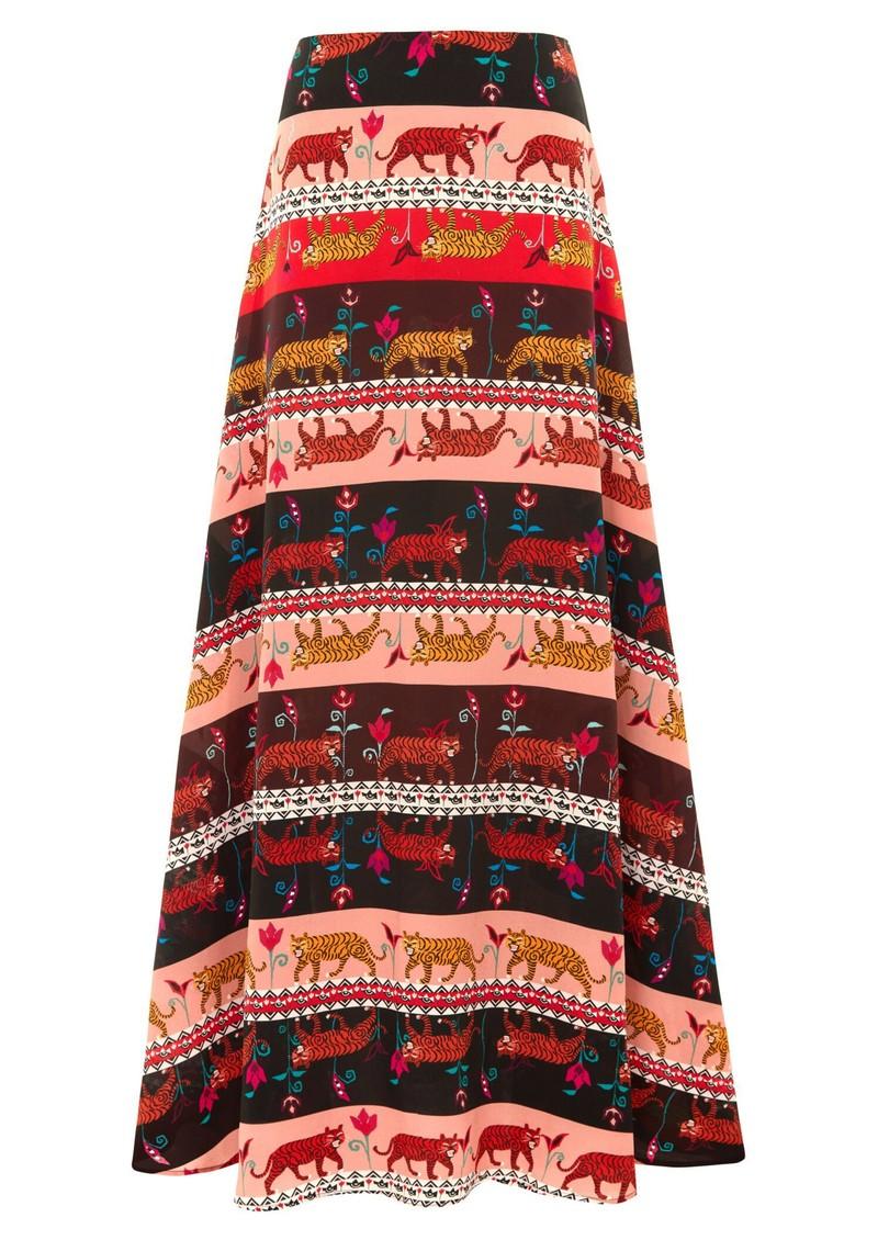 HAYLEY MENZIES Silk Maxi Skirt - Tigress main image