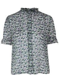 SAMSOE & SAMSOE Rosella Short Sleeve Shirt - Forget Me Not