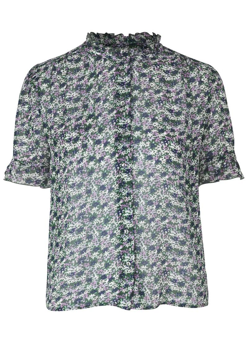 SAMSOE & SAMSOE Rosella Short Sleeve Shirt - Forget Me Not main image