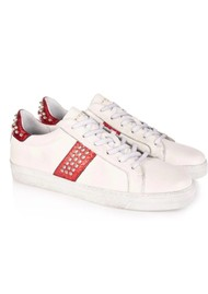 AIR & GRACE Cru Studded Trainer - White & Red