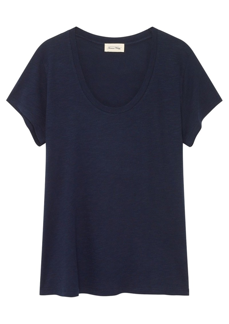 Jacksonville U Neck Short Sleeve Tee - Navy main image