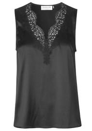 Rosemunde Silk Lace Sleeveless Top - Black