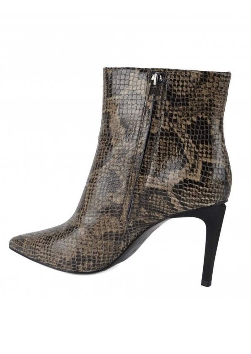 Ash Bianca Bis Python Boot - Taupe main image
