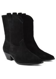 Ash Foxy Suede Mid Calf Boots - Black