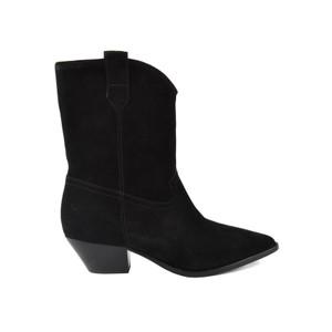Foxy Suede Mid Calf Boots - Black