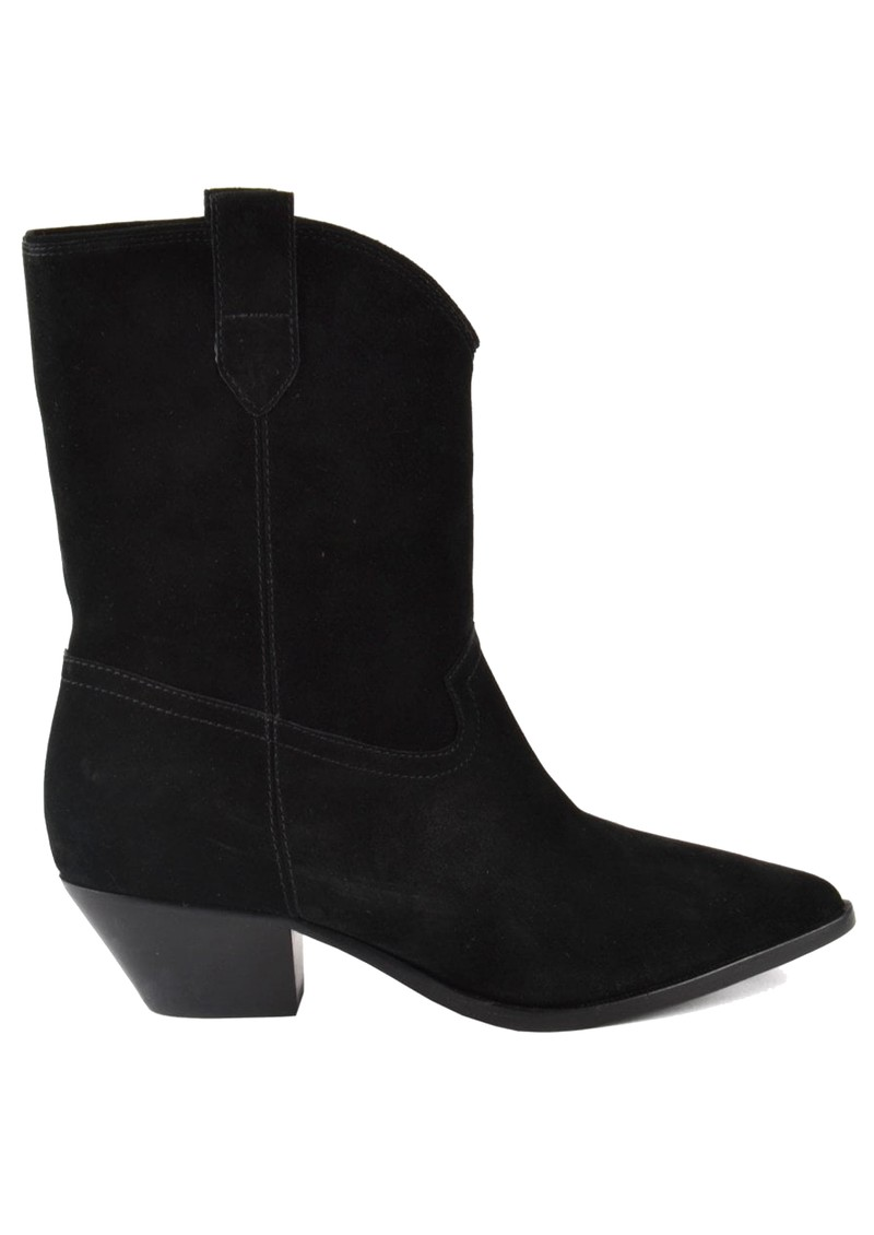 Ash Foxy Suede Mid Calf Boots - Black main image