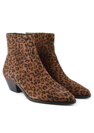 Ash Future Suede Boots - Leopard