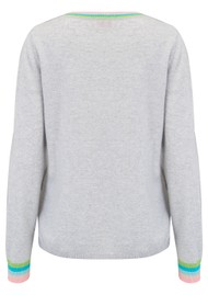 COCOA CASHMERE Pastel Wave Jumper - Cloud Multi
