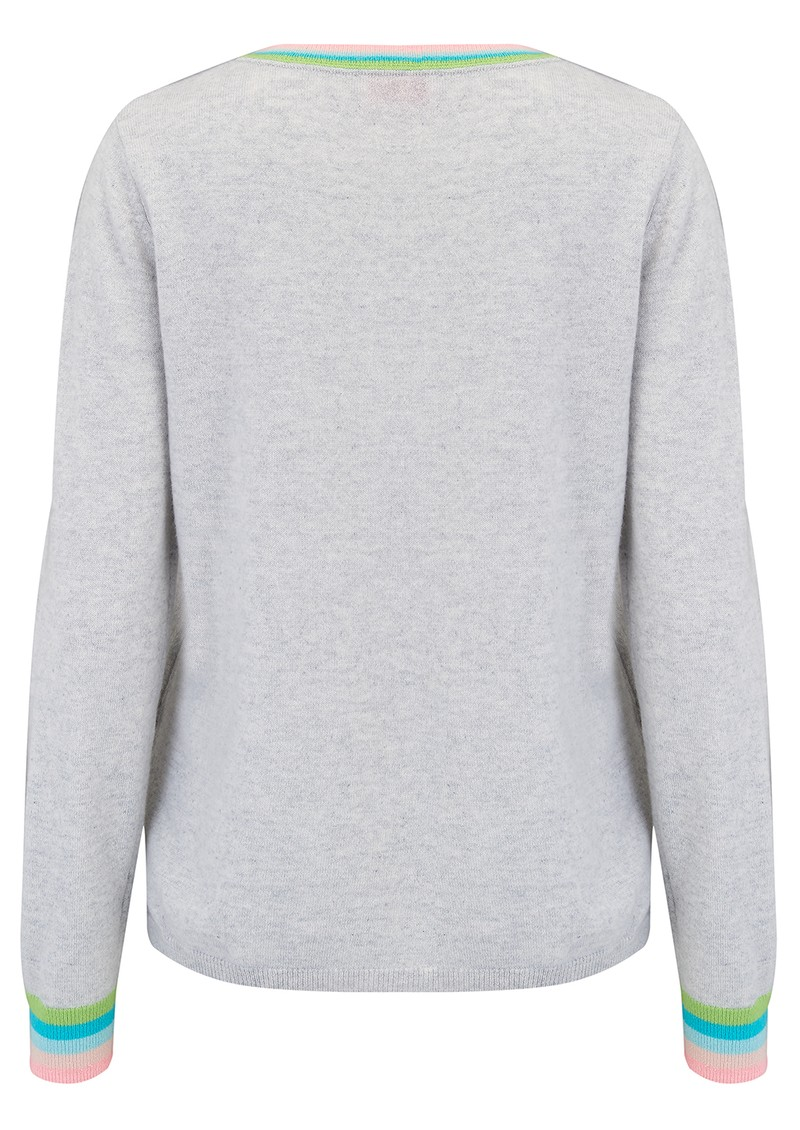 COCOA CASHMERE Pastel Wave Jumper - Cloud Multi main image