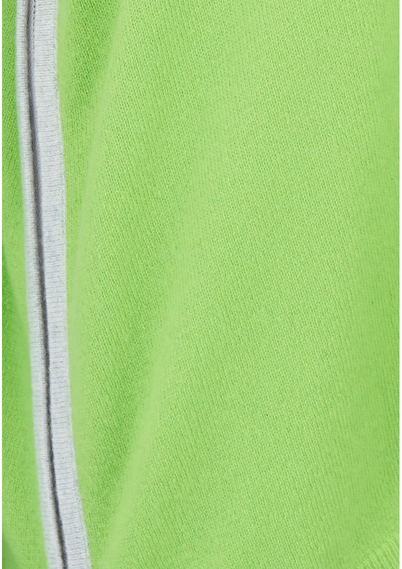 COCOA CASHMERE Side Zip V Neck Cashmere Jumper - Caterpillar main image
