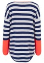 Textured Stripe Zip Jumper - Midnight & Cloud  additional image